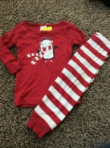 81332a17e Gymboree Red Cozy Penguin Holiday Two-piece PJs Girls Nwt Red ...