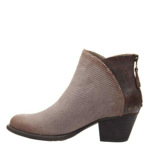 OTBT Size 8 Compass Bootie in Dark Taupe- Leather