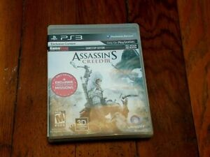 PS3 Assassins Creed 3 Video Game Case Manual Game Stop Edition Clean and Tested