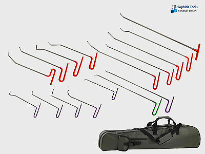 Ausbeulwerkzeug Hebeltechnik Set Hagelschaden Ausbeulset 16 Teilig- PDR Tool Set