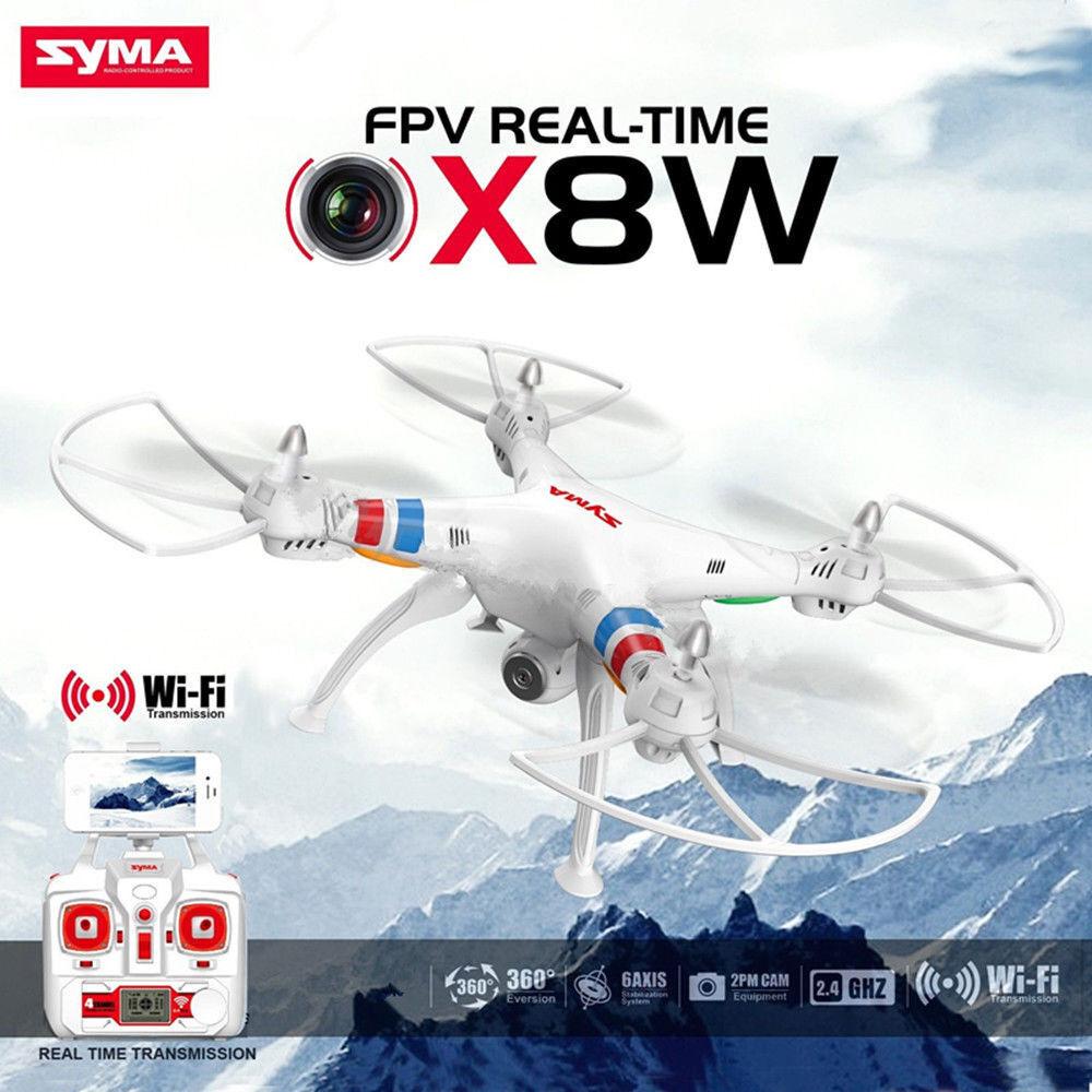 Syma X8W Explorers dron Wi-fi FPV RC Quadcopter 4CH 6-axis 2MP HD Cámara Cam