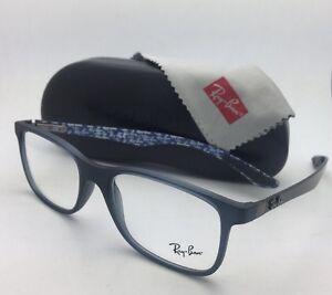 f82148f94b New RAY-BAN Eyeglasses TECH SERIES RB 8903 5262 55-17 Blue-Grey w ...