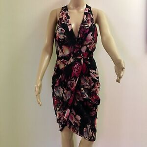 Stunning-Wayne-Cooper-Multi-Coloured-Dress-Great-Condition-Size-8