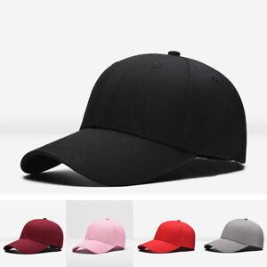 PT-LC-Uomo-Donna-Tinta-Unita-Cappello-Baseball-Hip-Hop-Regolabile-B-Boy-Berr