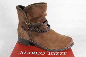 Details about Marco Tozzi Damen Stiefel Gr.39 Wildleder Strickschaft Braun warm Gefüttert