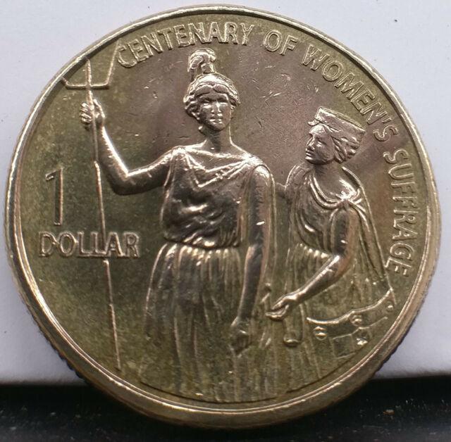 2003 Australian $1 coin. Centenary of women's suffrage. Free postage Australia.