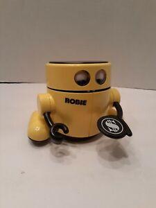 Vintage-Radio-Shack-Robotic-Banker-Robie-60-2261-Hungry-Yellow-Robot-Bank-WORKS