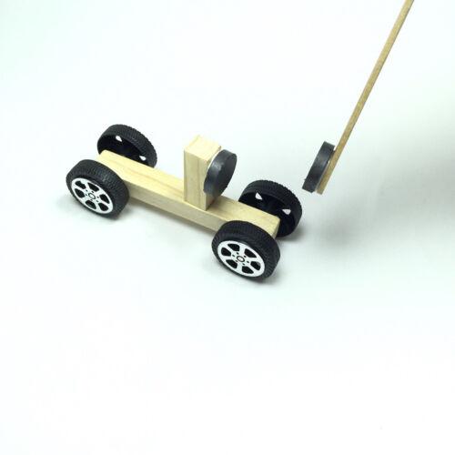Children/'s DIY Magnetic Model Car Material Kit Handmade Science Assembled Toy
