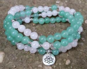 6mm-rose-quartz-Natural-gemstones-Mala-knotted-Necklace-Buddhist-Prayer-Beads