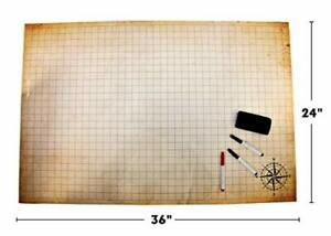 D&D Battle Grid Game, Dungeons and Dragons Game Mat, RPG