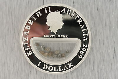 Treasures of Australia Diamond 1 Oz Silver Proof Locket Coin Perth Mint SOLD OUT