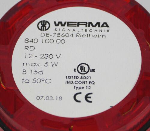5 W Werma Dauerlichtelement Rot 840 100 0012-230 Vmax
