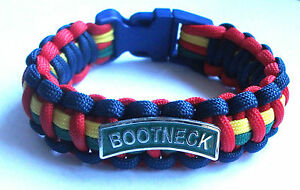 Logisch Royal Marines Bootneck Paracord Wristband With Badges