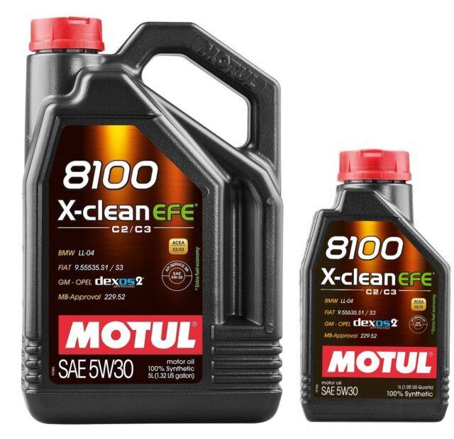 Aceite Motor Motul 8100 X-Clean EFE 5W30 ACEA C2 / C3, 6 Litros