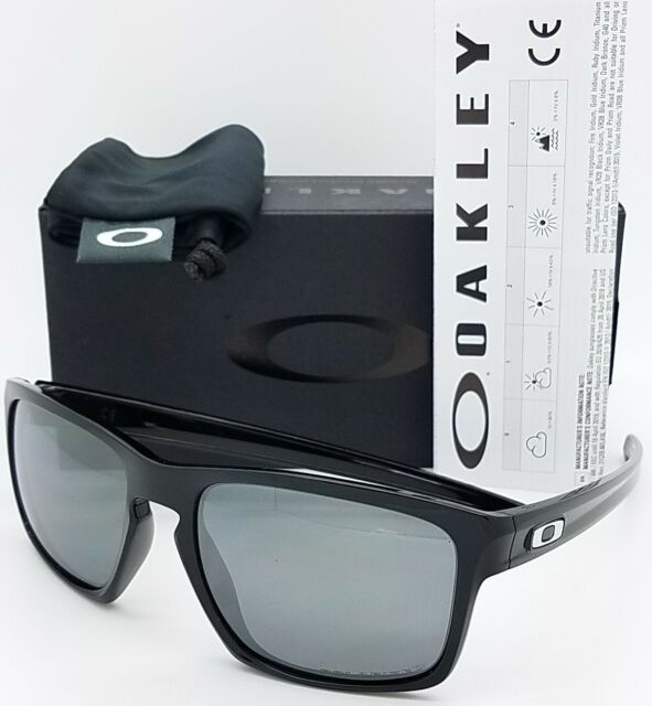 d5d35387f2 Oakley Sliver Rectangular Polished Black Gray Polarized Sunglasses Oo9262 09