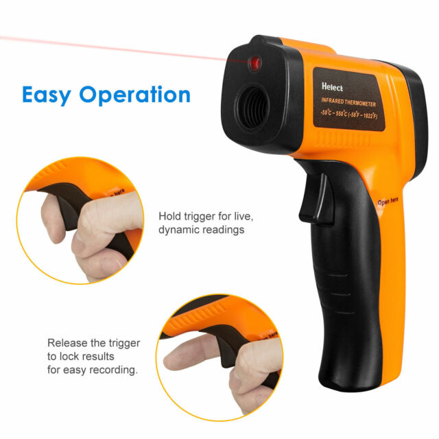 Helect H1020 Non-Contact Digital Laser Infrared Thermometer Gun for sale online