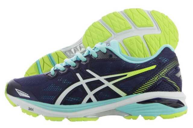 NEW! ASICS WOMEN'S Gt 1000 5 running Shoe T6A8N BlueWhite