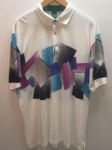 vtg 80s 90s Grand Slam Tennis Gold polo shirt Larg