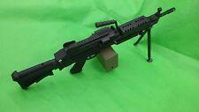 Electric toy gun m249 SAW prop cosplay usmc commando costume seal machinegun
