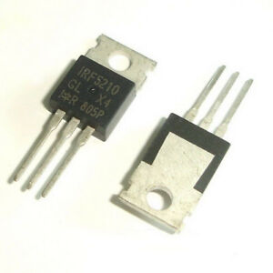50 Pcs IRF5210 TO-220 F5210 Power MOSFET 100V 0.06Ohm -40A