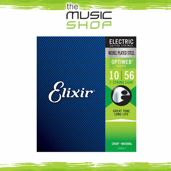 3 New Sets of Elixir Optiweb 10-56 7-String Electric Guitar Strings - 19057