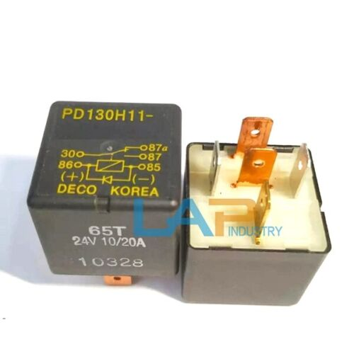 QTY:2 New For DECO KOREA PD130H11 Relay 65T 24V 10//20A Excavator relay 5 feet