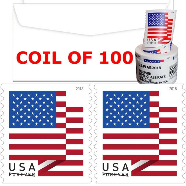 2018 USPS Forever Stamps 100 Totaling count Verified Authentic Forever Stamps.