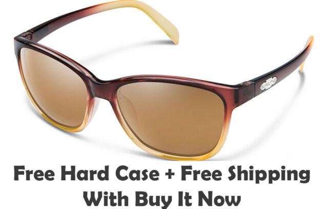 cb909ddcc6 Suncloud Dawson Sunglasses - Brown Fade Sienna Mirrored Polarized Free Hard  Case