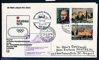 80589) LH Olympiade SF Frankfurt - Montreal 9.7.76, SoU ab Vatikan, o violett
