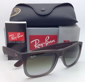 8d3994c6b8 Ray-Ban Sunglasses JUSTIN RB 4165 854 7Z Rubber Brown on Grey w ...