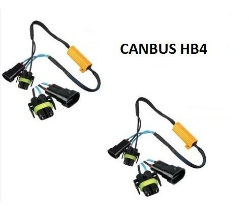 PLUG AND PLAY 2 RESISTANCE CABLE BOITIER ANTI ERREUR LED HB4-55W ET 6 OHM