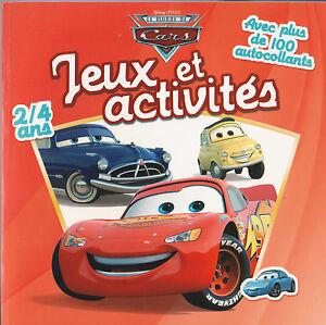 Jeux Et Activites Cars Disney Stickers Coloriage Ebay