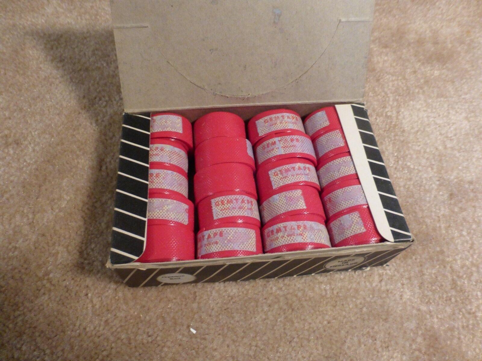Vintage 1960's  - NOS -  GEM  Plastic Bar Tape - Opaque Red - ( box of 20 Rolls )  best offer