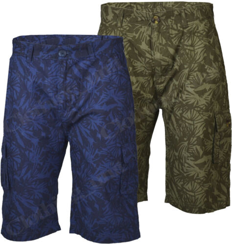S34 Mens Cargo Hawaiian Palm Tree  Combat 100/% Cotton Summer Shorts M-XXL