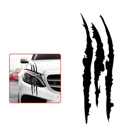 Universal Black Scratch Stripe Headlight Decal Car Stickers Car Accessories Hot