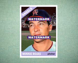Minnie Rojas California Angels 1966 Style Custom Baseball Art Card
