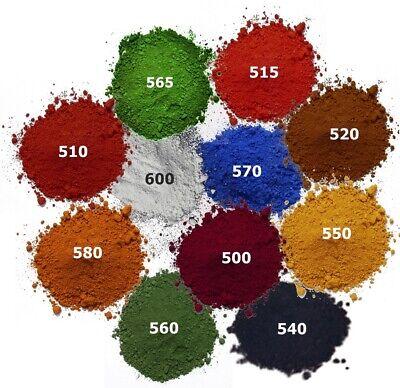 23,55 Eur/kg Eisenoxid Farbpigment Testproben 100 G 11 Verschiedene Farbtöne