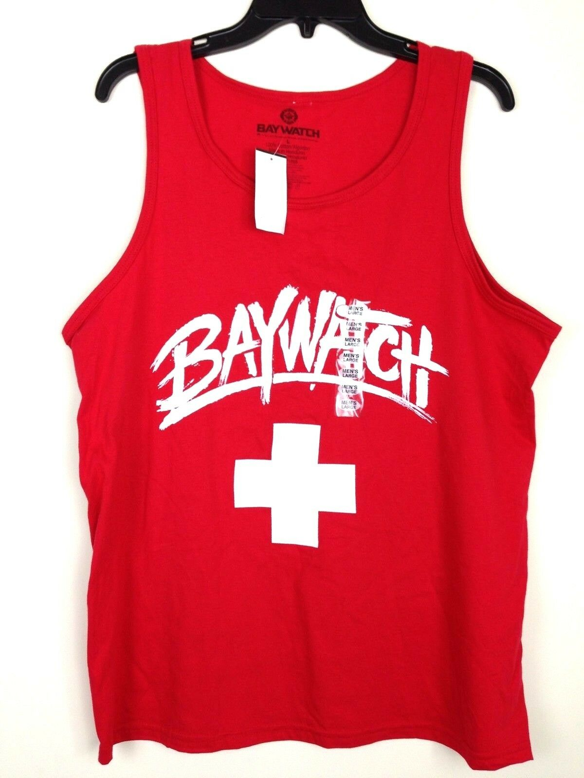 254e67fe566ea Baywatch T-shirt Men s 100 Cotton Red Tank Top TV Show XL for sale ...