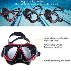 29c3189d00f6 Adult Anti-Fog PC Swimming Mask Diving Scuba Hyperopia Myopia ...