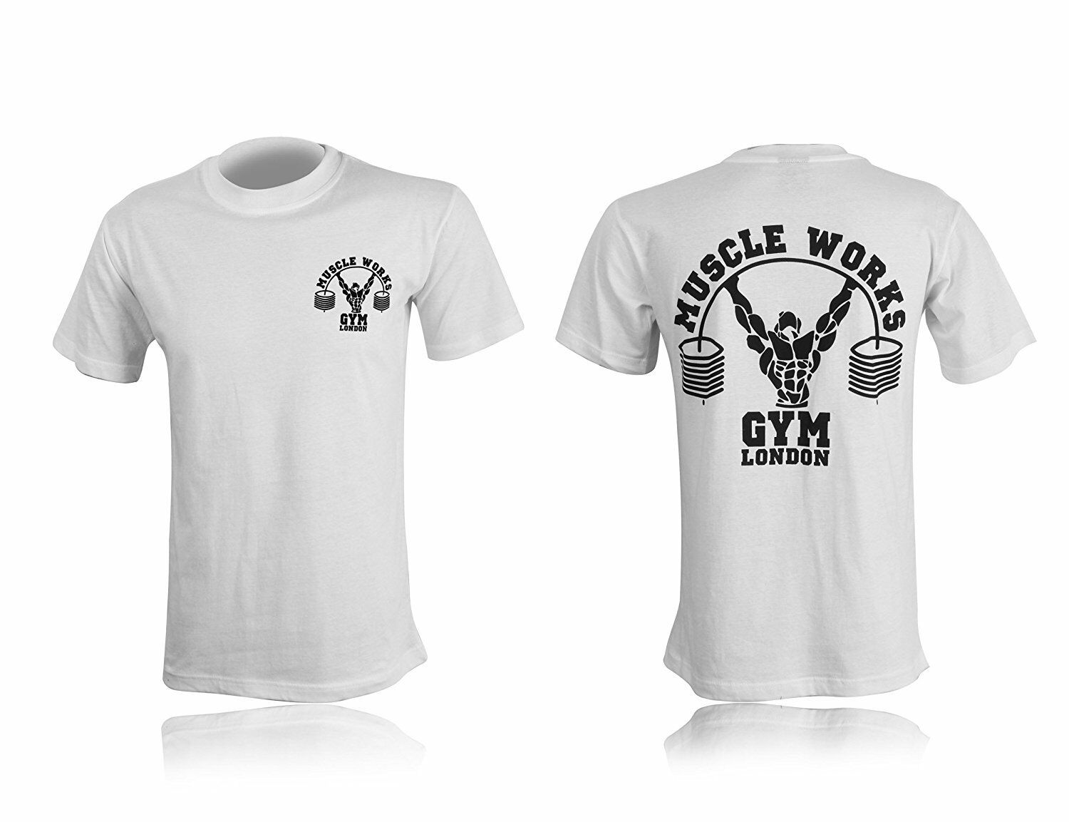 Original Muscle Works Gym London T-Shirts Summer Offer Must Go 70/% Off