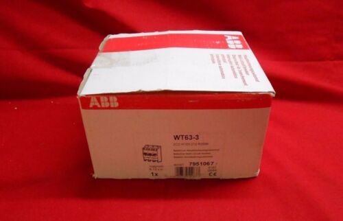 ABB  WT63-3  SELECTIVE CURRENT LIMITER CIRCUIT BREAKER 63AMP NEW IN BOX