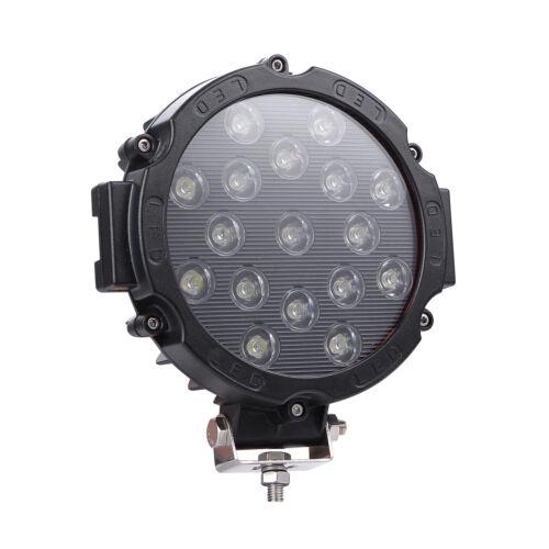 """4 un LED Luz de Trabajo Barra 7/""""in 400W Lámpara puntual Combo haz de inundación Redondo 12V 24V SUV"""