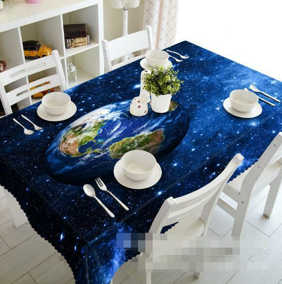 3D Space Earth 15 Tablecloth Table Cover Cloth Birthday Party Event AJ WALLPAPER