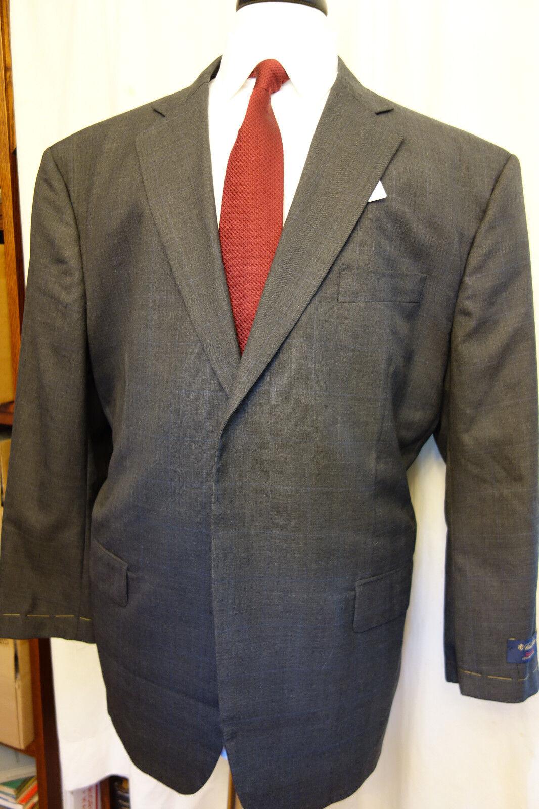 NWT Brooks Brothers Golden Fleece Dk grau Glen Plaid Wool Suit 48R  MSRP 2400