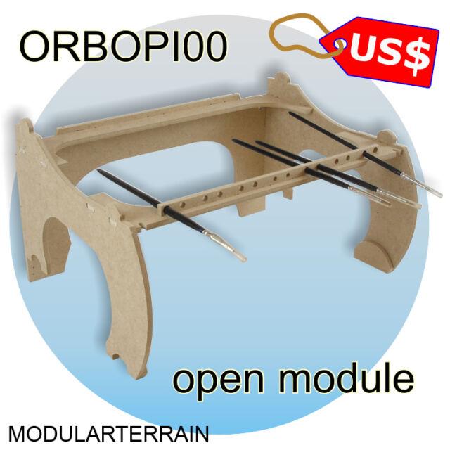 ORBOPI00 MODULAR PAINT BOTTLE RACK ORGANIZER OPEN MODULE 14 BRUSHES LASER CUT