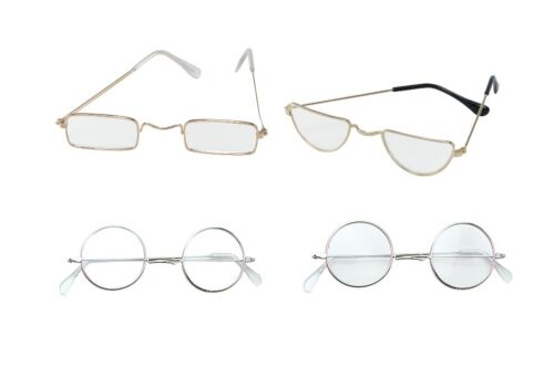 OLD MAN GRANNY GLASSES HALF MOON SPECTACLES FANCY DRESS ADULT