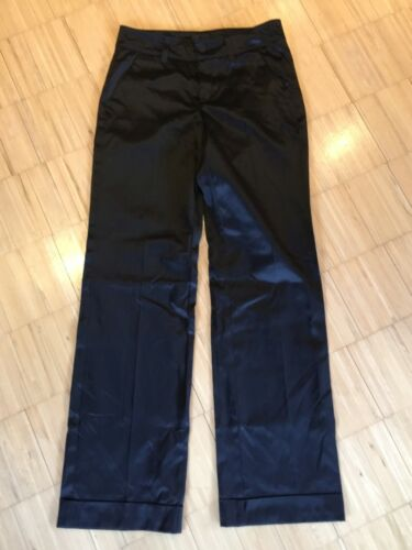 0411 090 Brillant Fino Noir Femme 34 Décontracté Anouk Turn Pants Mac 36 FwnqUxp704