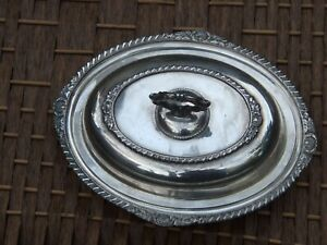 Antique-Canadian-Silver-Plated-Vegetable-Tureen-Removable-Handle-Vintage-1900-039-s