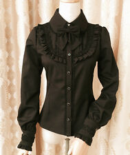 Cosplay Lolita Gothic Shirt Princess Blouse with lace (black color)