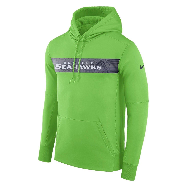 Seahawks Sideline NFL dri-fit therma hoodie - lime green adult L